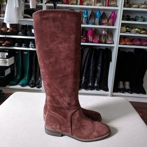 UGG Mahogany Suede Daley Tall Leather Riding Boots